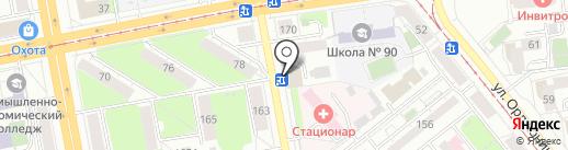 Маранта на карте Ижевска