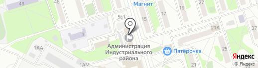 Администрация Индустриального района на карте Ижевска