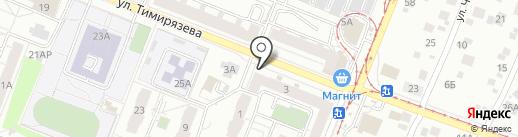 На Тимирязева на карте Ижевска