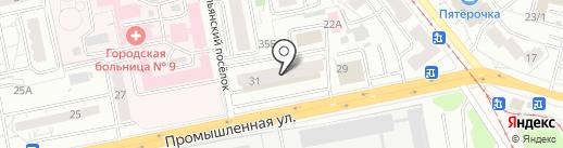 Автолига на карте Ижевска