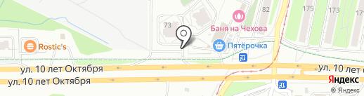 Мустанг авто на карте Ижевска