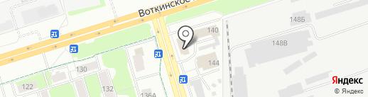 Мировые судьи Индустриального района на карте Ижевска