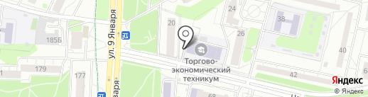 Столовая, Ижевский торгово-экономический техникум на карте Ижевска