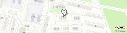 Ворошилова 55 к4, ТСЖ на карте Ижевска