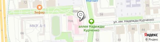 Детская городская клиническая поликлиника №8 на карте Ижевска