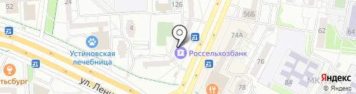 Банкомат, Россельхозбанк на карте Ижевска
