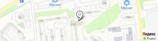 Красный МЕТР на карте Ижевска