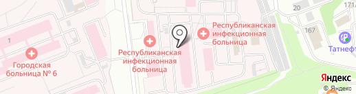 Республиканская клиническая инфекционная больница на карте Ижевска