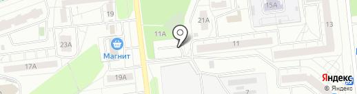 Автозаводская 11 на карте Ижевска