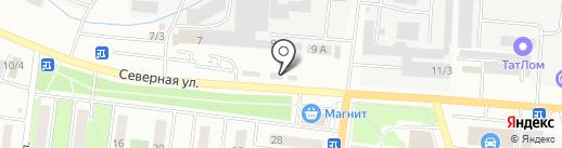 Автотурист на карте Октябрьского