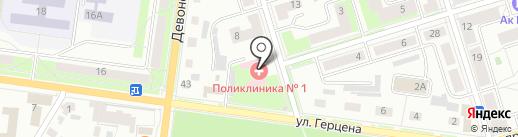Поликлиника №1 на карте Октябрьского