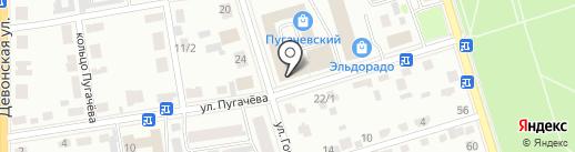Рыболов на карте Октябрьского