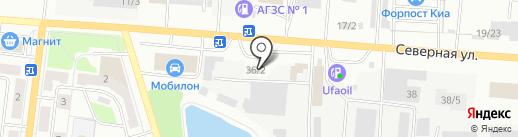Автодизайн на карте Октябрьского