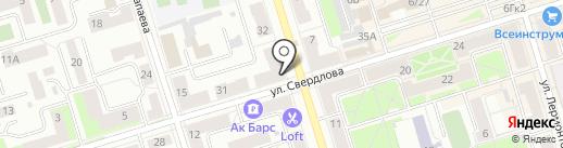 Орион на карте Октябрьского