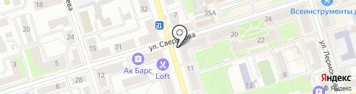 Октябрьские электрические сети на карте Октябрьского