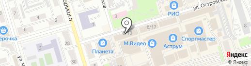 Магазин тканей и постельных принадлежностей на карте Октябрьского