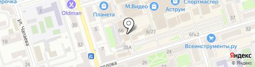 Мастерская по ремонту обуви на карте Октябрьского