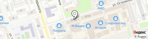 Мастерская по ремонту обуви и изготовлению ключей на карте Октябрьского
