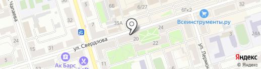 Аккош на карте Октябрьского