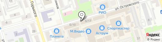 Авеню на карте Октябрьского