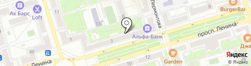 Туган Як на карте Октябрьского