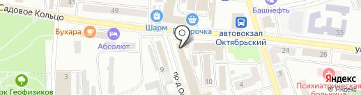 Солнечный на карте Октябрьского