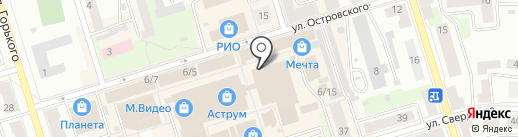 Остин на карте Октябрьского