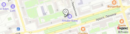 Цветочная лавочка на карте Октябрьского