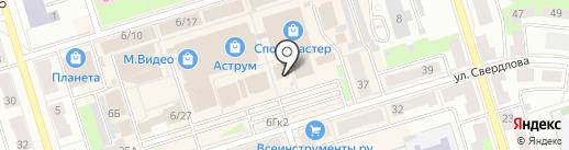 Малиновка на карте Октябрьского