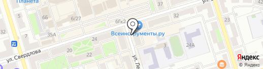Каре на карте Октябрьского