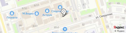 Магазин косметики на карте Октябрьского
