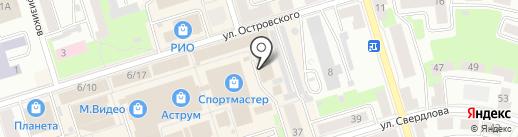 Магазин одежды на карте Октябрьского
