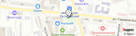 Ахтан на карте Октябрьского