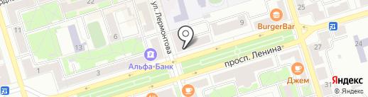 Белёк на карте Октябрьского