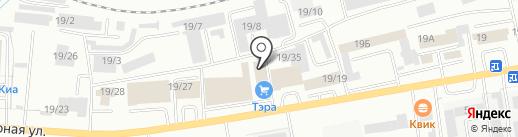 Тэра на карте Октябрьского