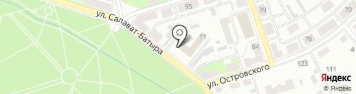Спортивная школа №1 на карте Октябрьского