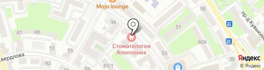 Унция на карте Октябрьского
