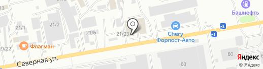 ИЛЕНТ на карте Октябрьского