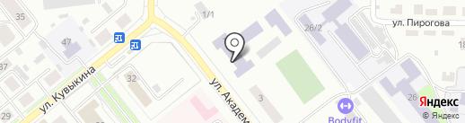 Октябрьский коммунально-строительный колледж, ГБПОУ на карте Октябрьского