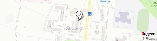 Рощинский на карте Октябрьского