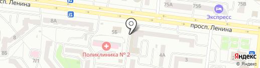 Салон нижнего белья и чулочно-носочных изделий на карте Октябрьского