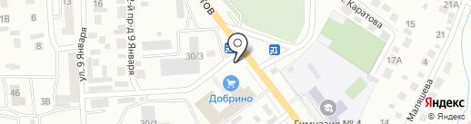 Автотрэк на карте Октябрьского