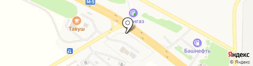 Золотой квадрат на карте Оренбурга