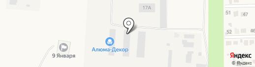 Артис де Люкс на карте Девятого Января