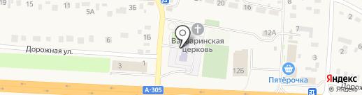 Южноуральская средняя общеобразовательная школа на карте Южного Урала