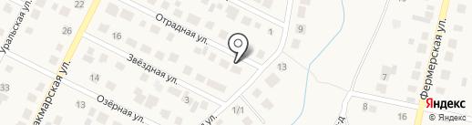 Сауна на Отрадной на карте Ленины