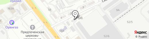 Магазин автотоваров на карте Оренбурга