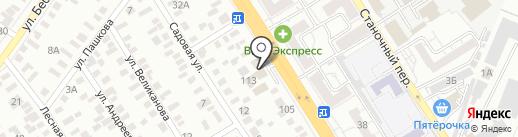 Полторашка на карте Оренбурга