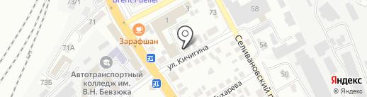 Сушидза на карте Оренбурга