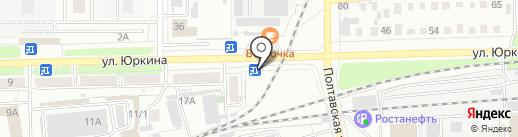 Цветочная лавка на карте Оренбурга